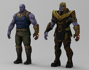 Thanos character 3D model