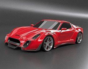 Retrone sportscar concept 3D