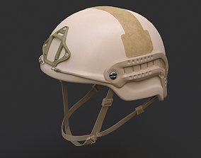 3D model Ops Core Sentry mid cut military helmet urban tan