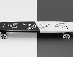 3D asset skateboard of peace
