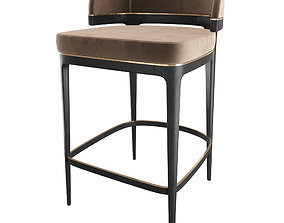 3D model GRANGE - Bar STool - Brown