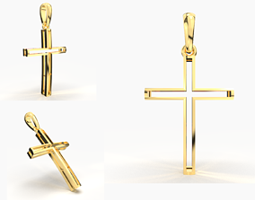 3D printable model JESUS CROSS GOLD PENDANT
