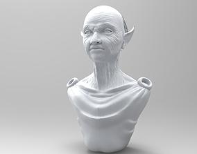 3D model Elderly Elf Torso and Head