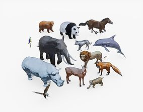 3D asset Low Poly Animal Pack