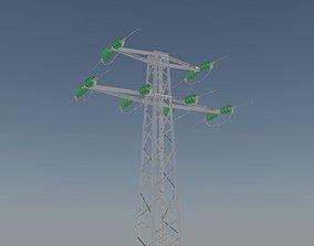 Voltage overhead power line tower 952 D 3D model