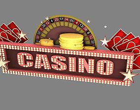 casino signboard 3D asset