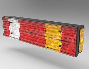 Truck Rear Light and Reflector 3D