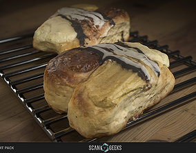 low-poly Pastry 04 - Photogrammetry Asset 3D PhotoScan