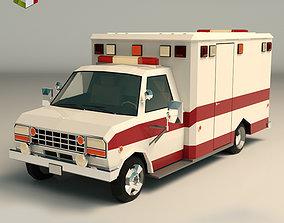 3D asset Low Poly Ambulance 02
