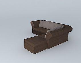 3D model Roma sofa bed Maisons du monde