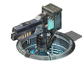 Spaceship - Ground Fort 03 3D model