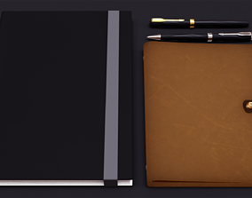 3D PBR Notebooks and Pens