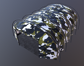 game-ready Military tent snow camo great for base - 2