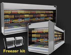 store refrigerator freezer fridge cold storage 3D model