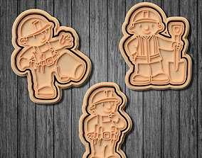 3D printable model Bob the Builder cookie cutter set of 6