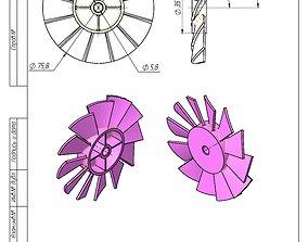 Fan impeller 3D print model