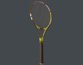3D asset VR / AR ready Tennis Racket
