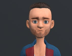 Bearded Bob 3D model
