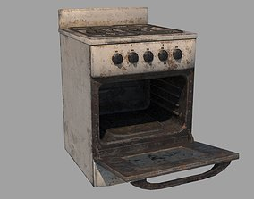 Abandoned Stove 3D asset