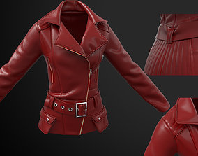 Ladies Biker Jacket in Marvelous Designer 3D asset
