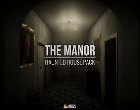 3D asset The Manor - Haunted House Pack