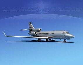 3D model Dassault Falcon 7X V10
