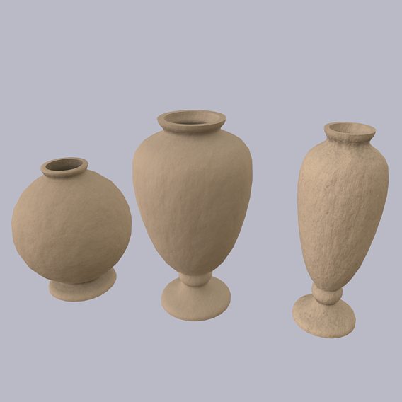 Vintage Light Clay Vessel Collection