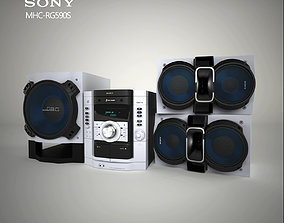 3D model Sony MHC-RG590S bass