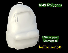 Backpack 3D model low-poly poly