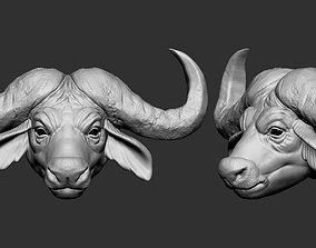 African Buffalo head 3D printable model
