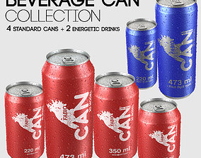 Beverage Can Collection - 6 Sizes 3D model
