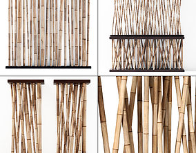 3D Bamboo decor wall cafe