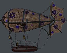 3D asset Fantasy zeppelin