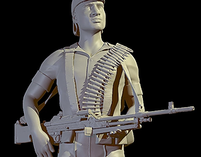 soldier for print and high poly