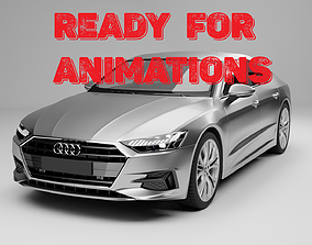 3D Rigged Car Ready For Animations Audi A7 Sportback 2018