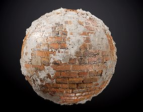 Brick Wall Sloppy Concrete Seamless PBR Texture 3D