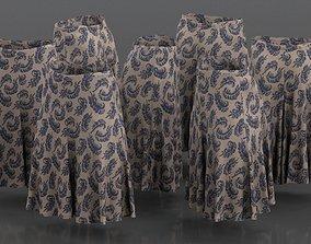 3D asset Feather Decorated Skirt Pattern Elegant