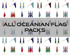 3D All Oceanian Flag Packs