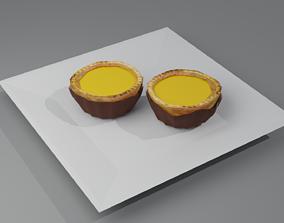 Hong Kong Culture series - Egg Tart 3D asset