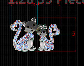 kitty cat pendant 3D printable model