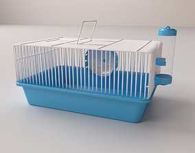 3D model drinking Hamster Cage