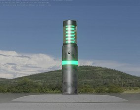 3D model Galvanized Light-Column -7- Street-Light 9