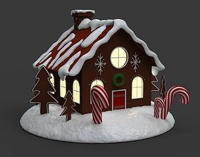 gift 3D print model Gingerbread house