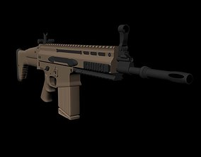 SCAR-H 3D model