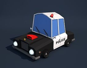 3D model Low Poly Police Car