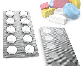 3D asset Pill Pack Blister Tablet