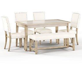 3D model Maison Rouge Carson Caramel Rectangular Table 1