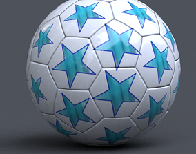 soccer ball 3D asset low-poly
