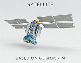 Satellite GLONASS-M 3D model