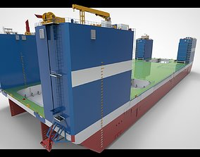 Floating dock 3 drydock 3D model